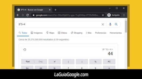 Usa a Google como calculadora